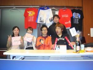 集合写真 佐々木左之介、小山内さん、中熊さん、岩崎良介(唐橋卓球)