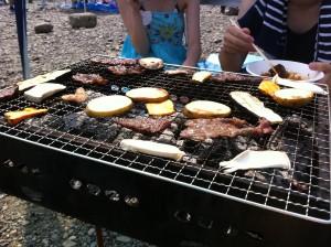 バーベキュー!肉!野菜!