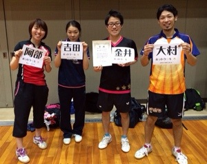 優勝!第8回京浜オープンラージボール卓球大会(ヨーラジャパンカップ)