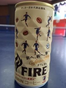 サッカー日本代表応援缶!カフェオレ!
