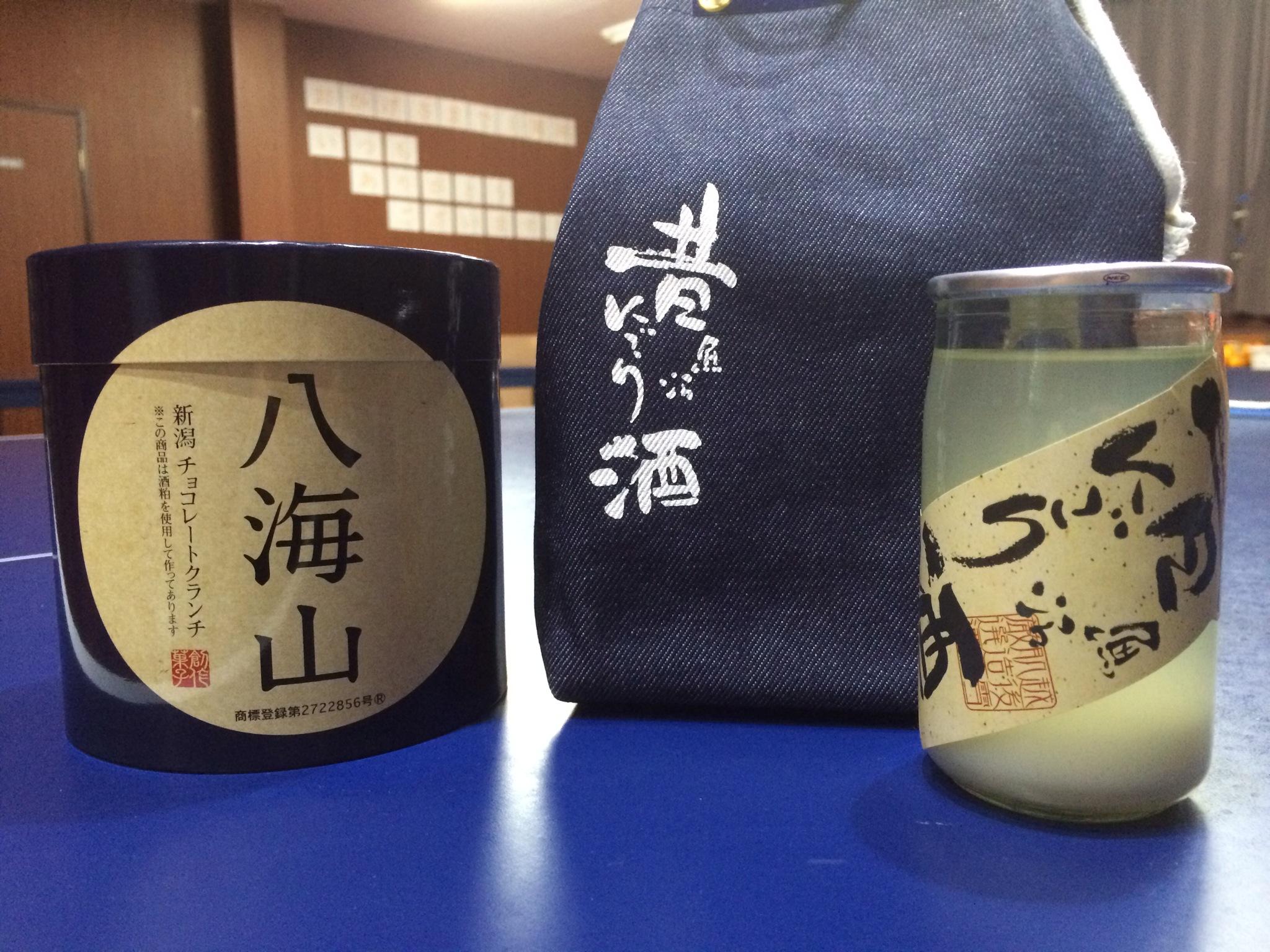 先日、ジュニアの子からお土産をいただきました!新潟のにごり酒おいしかったです!