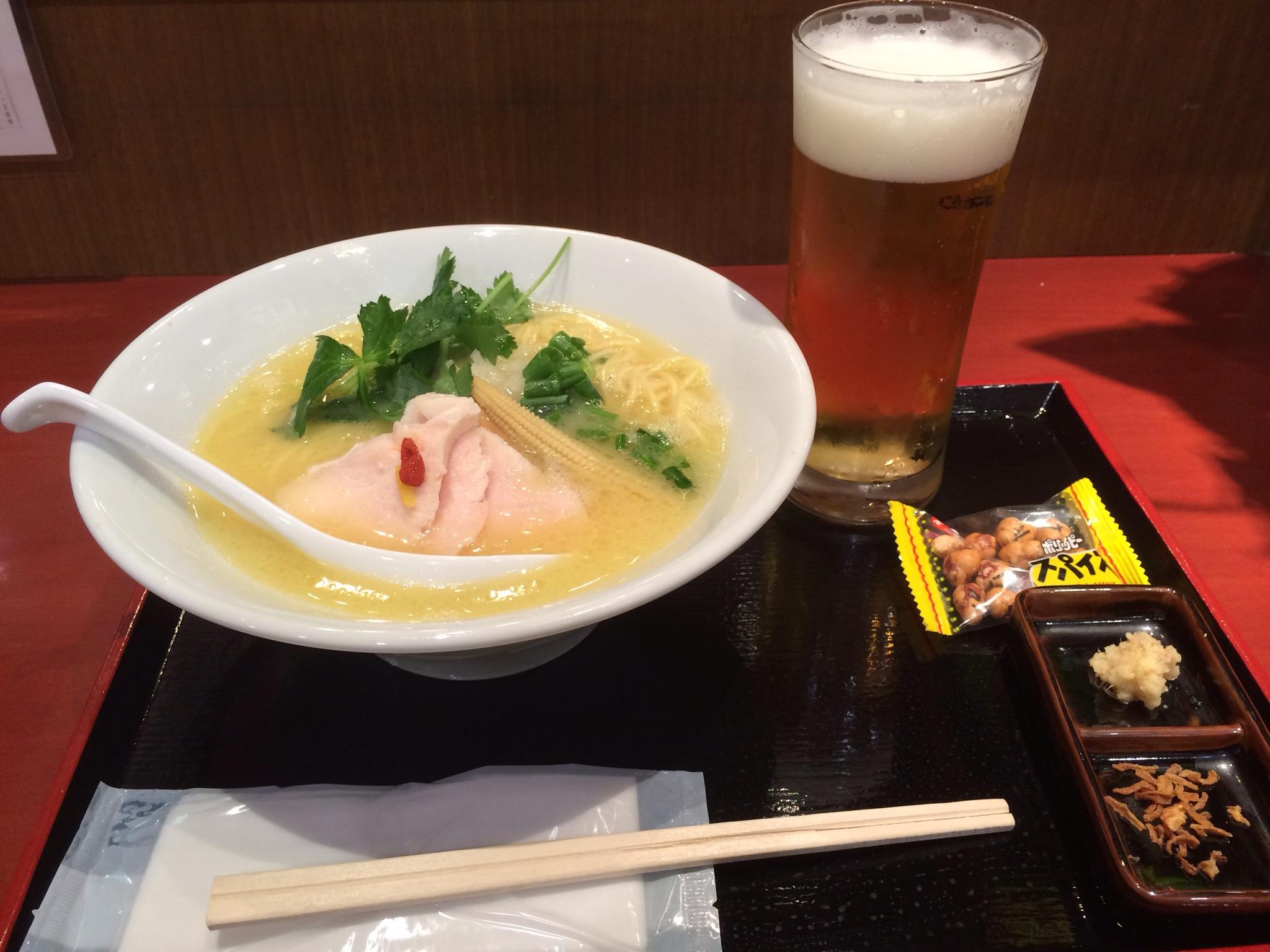 銀座 篝 ラゾーナ川崎店!鶏白湯SOBA!!!とビール!