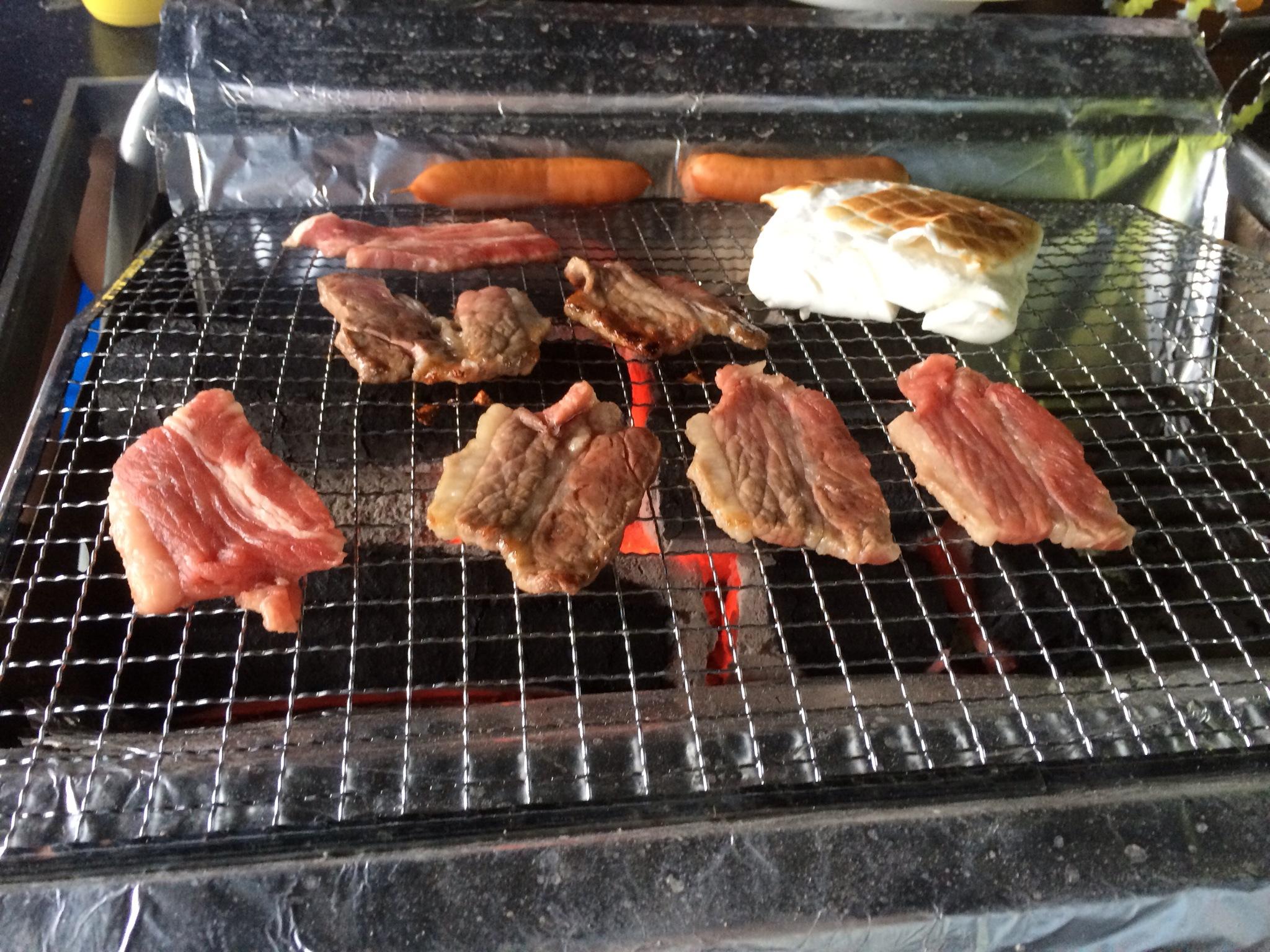 お肉とビールであったまります!!!!\(^o^)/