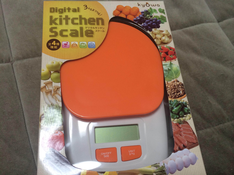 デジタルキッチンスケール!!川崎卓球ジムカラーのオレンジ!