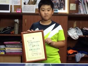 神奈川県小学生大会のカブBで準優勝したまさです!