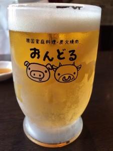 グラスがかわいかったです!ビールもうまい!