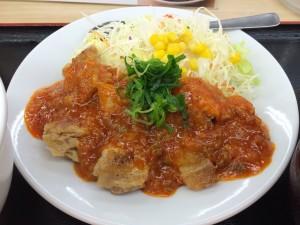 松屋の鶏のチリソース定食!おいしいです!
