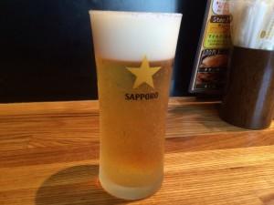 フェイスブックでいいね!グラスビールのサービス!