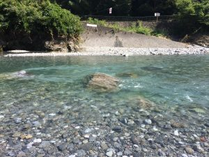 川の水が冷たく澄んでいてきれいでした\(^o^)/