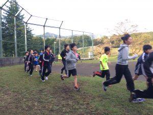 合宿2日目の朝!6時30分からランニングと体操!