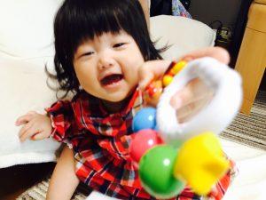 岡安さんの長女、ゆずかちゃんです♪