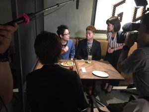 NHKのインタビューを受けましたが、放映ではカットされていました!笑
