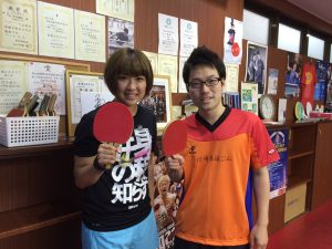 元なでしこジャパン!永里亜紗乃さん!卓球もうまくなりました!