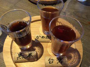 甕だし紹興酒!利き酒3種!