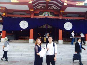 日枝神社!入籍日にもお参りにきました(*^-^*)