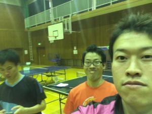 祐コーチがいきなり撮りました!川口コーチは油断しています!