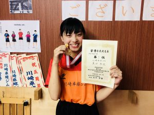 初優勝!1年女子!とてもうれしそうでした!(*^_^*)