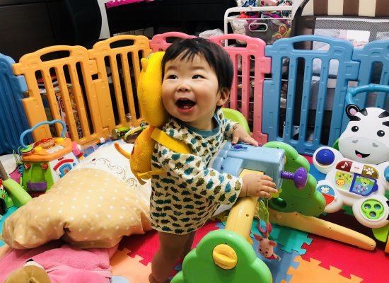 つかまり立ち!かなた・奏大・9ヶ月・赤ちゃん