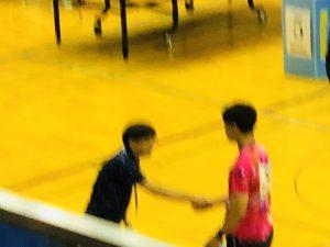 渡邊先生と熱い握手!