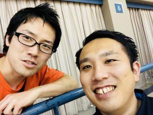 中学県総体にて、湘工の武田先生と!