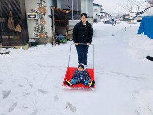 雪かきに乗りました!楽しそうでした!笑