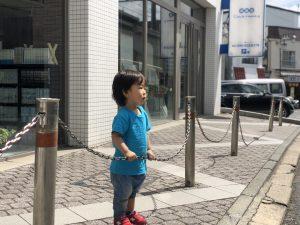 お散歩コース!後ろにはアンパンマン!前は駅と電車!