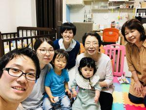 兄家族が遊びに来てくれました!長女は幼稚園で来れませんでした!泣