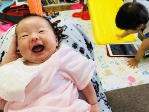 すぐ笑ったわけではないですが、笑顔になりました!(*^_^*)