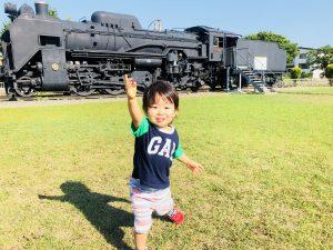 機関車もあり、大興奮!!