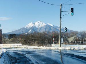 晴れた日は岩木山がきれいに見えました(^O^)/
