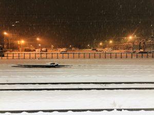 新青森駅!大雪で真っ白です(^_^)