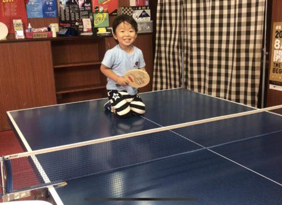 卓球楽しいみたいです!2才11ヶ月!