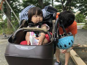 自転車大好き!!パパ早く出発してよー!!