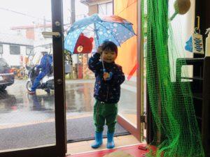 傘が好きみたいです!