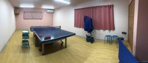 2階卓球場!プライベートな空間で卓球ができます!